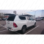 "Кунг кузова ""АВС-Дизайн"" для Toyota Hilux 2015-2020 с двойной кабиной. Белая, 3 двери. Артикул: ABC.TOHIL.BR.05W"