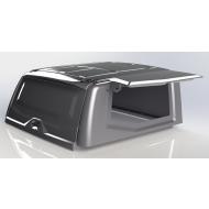 """Кунг на кузов """"АВС-Дизайн"""" для УАЗ Pickup 2015-2020 с двойной кабиной. Экспедиционная, 3 двери, черная. Артикул: ABC.UAZ.BR.09B"""