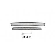 """Сетка внешняя """"Arbori"""" в бампер, черная 15мм (2 шт.) без декоративной накладки на передний бампер для Suzuki Vitara 2015-2020. Артикул: 01-510415-151"""