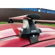"""Багажник на крышу """"INTER D-1"""" креп. за дверные проемы для Smart Forfour хэтчбек 5-дв. 2004-2006 (Аэро-крыло дуги). Артикул: 5518+1206"""