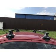 """Багажник на крышу """"INTER D-1"""" креп. за дверные проемы для Smart Forfour хэтчбек 5-дв. 2004-2006 (Прямоугольные дуги). Артикул: 5518+1003"""
