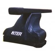 """Багажник на крышу """"INTER C-15"""" на штатные места для Renault Scenic, Grand Scenic II 5-дв. 2003-2008 (Прямоугольные дуги). Артикул: 5519+1003"""