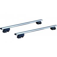 "Багажник на интегрированные рейлинги ""LUX"" для Mitsubishi Pajero Sport III 2016-2020 (Аэро-классик дуги). Артикул: 844321+842488+698881"