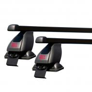 """Багажник на крышу """"Mont Blanc Flex"""" 3 креп. за дверные проемы для Geely MK седан 2007-2020 (Прямоугольные дуги). Артикул: 774061+785998+786163"""