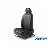 """Чехлы """"Rival"""" Строчка (спинка 40/60) для сидений Lada XRay хэтчбек 5-дв. 2016-2020, черные. Артикул: SC.6004.1"""