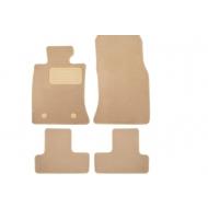 "Коврики текстильные ""Klever Premium"" в салон Mini Сooper хэтчбек 3дв. АКПП 2007-2015 БЕЖЕВЫЕ. Артикул KLEVER04850122112kh"