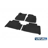 """Коврики """"Rival"""" в салон Geely Emgrand X7 I 2018-2020. Артикул 11902003"""