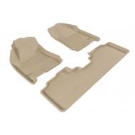 """Коврики текстильные """"Sotra Liner"""" 3D Lux в салон Cadillac SRX II 2010-2020. СЕРЫЕ. Артикул ST 74-00466"""