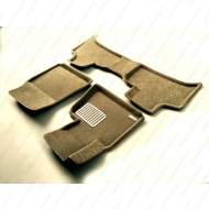 "Коврики текстильные ""Euromat Lux"" 3D в салон BMW X5 E53 2000-2006 БЕЖЕВЫЕ. Артикул EM3D-001211T"