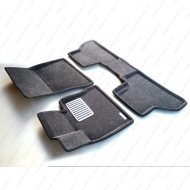 """Коврики текстильные """"Euromat Lux"""" 3D в салон BMW X6 E71 2008-2014 Темно-серые. Артикул EM3D-001212G"""