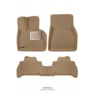 """Коврики текстильные """"Euromat Lux"""" 3D в салон Hyundai Genesis G80 2017-2020 Бежевые. Артикул EM3D-002705T"""