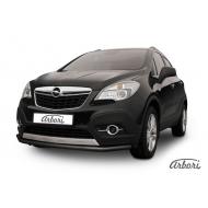 """Защита """"Arbori"""" переднего бампера d57 длинная черная для Opel Mokka 2012-2020. Артикул AFZDAOPMOK1303B"""