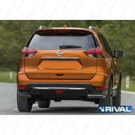 "Защита ""Rival"" заднего бампера d57 уголки для Nissan X-Trail T32 2018-2020. Артикул R.4125.007"
