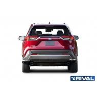 "Защита ""Rival"" заднего бампера d57 уголки для Toyota Rav4 V XA50 2019-2020. Артикул R.5725.008"
