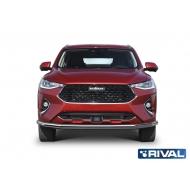 """Защита """"Rival"""" переднего бампера d57 для Haval F7 2019-2020. Артикул R.9404.001"""