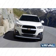 "Защита ""Rival"" переднего бампера d57 для Chevrolet Captiva I 2012-2013. Артикул R.1005.001"