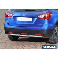 "Защита ""Rival"" заднего бампера d42 для Suzuki SX4 II 2014-2016. Артикул R.5508.005"