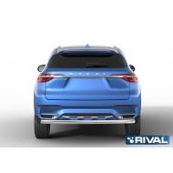 "Защита ""Rival"" заднего бампера d57 уголки для Haval H2 I 2014-2020. Артикул R.9401.004"