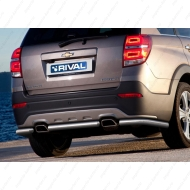 "Защита ""Rival"" заднего бампера d57 для Chevrolet Captiva I 2013-2016. Артикул R.1006.007"