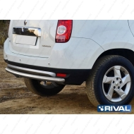 "Защита ""Rival"" заднего бампера d57 для Renault Duster I 2011-2015. Артикул R.4701.014"