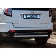 """Защита """"Rival"""" заднего бампера d57 для Great Wall Hover H3 I 2014-2015. Артикул R.2007.008"""