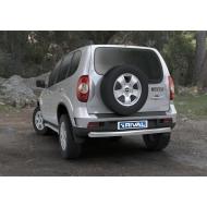 "Защита ""Rival"" заднего бампера d76 для Chevrolet Niva I 2009-2020. Артикул R.1004.010"