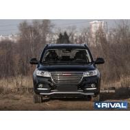 """Защита """"Rival"""" переднего бампера d57 волна для Haval H6 I 2014-2020. Артикул R.9402.003"""