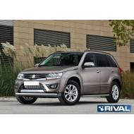 """Защита """"Rival"""" переднего бампера d57 для Suzuki Grand Vitara III 2012-2015. Артикул R.5507.002"""