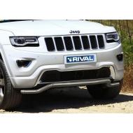 """Защита """"Rival"""" переднего бампера d57 волна для Jeep Grand Cherokee WK2 2013-2020. Артикул R.2705.002"""