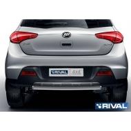 """Защита """"Rival"""" заднего бампера d42 короткая для Lifan X50 I 2015-2020. Артикул R.3302.010"""
