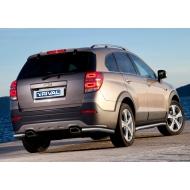 """Защита """"Rival"""" заднего бампера d57 уголки для Chevrolet Captiva I 2013-2016. Артикул R.1006.008"""