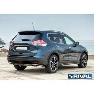 "Защита ""Rival"" заднего бампера d42 уголки для Nissan X-Trail T32 2015-2018. Артикул R.4122.009"
