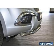 """Защита """"Rival"""" переднего бампера d57 волна для Haval H9 I 2014-2017. Артикул R.9403.001"""
