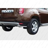 "Защита ""Союз-96"" задняя уголки d42 для Renault Duster 4WD 2012-2020. Артикул RDUS.76.1446"