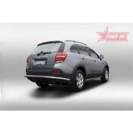 """Защита """"Союз-96"""" задняя d60 для Chevrolet Captiva 2014-2020. Артикул CCAP.75.5056"""