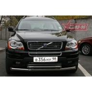 "Защита ""Союз-96"" переднего бампера d76/60 двойная для Volvo XC90 I 2007-2014. Артикул VOXC.48.0538"