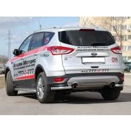 """Защита """"Союз-96"""" задняя (уголки) d60 для Ford Kuga II 2013-2016. Артикул FKUG.76.1740"""