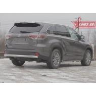 """Защита """"Союз-96"""" задняя 75х42 овальная для Toyota Highlander III 2014-2020. Артикул TOHR.75.1980"""