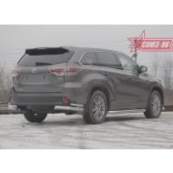 """Защита """"Союз-96"""" задняя уголки d7642 двойные для Toyota Highlander III 2014-2020. Артикул TOHR.76.1972"""