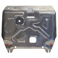 """Защита алюминиевая """"Alfeco"""" для картера и КПП Hyundai Solaris 2011-2017. Артикул: ALF.10.24 AL5"""