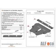 """Защита алюминиевая """"Alfeco"""" для картера и КПП Citroen C4 I 2008-2010. Артикул: ALF.04.02 AL4"""