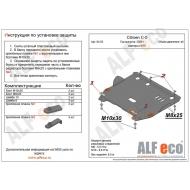 """Защита """"Alfeco"""" для картера и КПП Peugeot 407 2004-2010. Артикул: ALF.04.03st"""