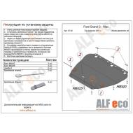 """Защита """"Alfeco"""" для картера и КПП Ford Grand C-Max II 2011-2020. Артикул: ALF.07.26 st"""