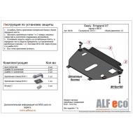"""Защита """"Alfeco"""" для картера и КПП Geely Emgrand X7 2013-2020. Артикул: ALF.08.06st"""
