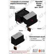 "Защита ""Alfeco"" для аккумулятора Hyundai H100 Porter 2005-2015. Артикул: ALF.10.17st"