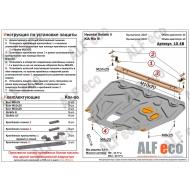 """Защита """"Alfeco"""" для картера и КПП (на пыльник с уст. на силовой кронштейн) Hyundai Solaris II 2017-2020. Артикул: ALF.10.48st"""