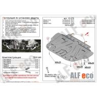 """Защита """"Alfeco"""" для картера и КПП Mazda CX-9 II 2016-2020. Артикул: ALF.13.070st"""
