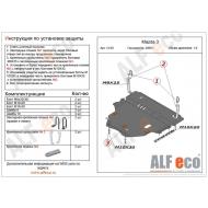 """Защита """"Alfeco"""" для картера и КПП Mazda 3 II 2009-2012. Артикул: ALF.13.09 st"""