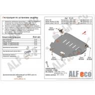"""Защита алюминиевая """"Alfeco"""" для картера Nissan Laurel C34/C35 1993-2002. Артикул: ALF.15.23 AL4"""