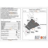 "Защита ""Alfeco"" для картера и КПП Nissan Sunny B14 4WD 1994-1998. Артикул: ALF.15.36st"